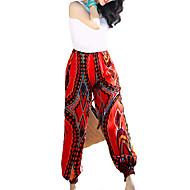 Žene Boho Visoki struk Harem hlače Širok kroj Sportske hlače Hlače - Print