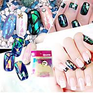 10pcs/set Nail Art Sticker  Water Transfer Sticker Glitter & Poudre 3D Nail Stickers Makeup Cosmetic Nail Art Design
