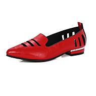 Feminino Sapatos Materiais Customizados Courino Primavera Verão Outono Inovador Sapatos clube Rasos Rasteiro Dedo Apontado Mocassim Para