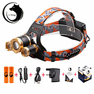 U'King Headlamps Headlight LED 6000 lm 3 4 Mode Cree XM-L T6 Adjustable Focus Compact Size Easy Carrying Zoomable for