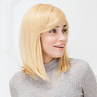 legal loira haircolor sem tampa reta naturais cabelo humano peruca para meninas e mulheres de 2017