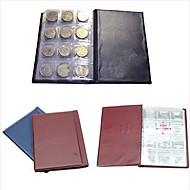 1pcs 120 moeda livro álbum bolsos de dinheiro de armazenamento recolha titulares centavo coleta cor aleatória