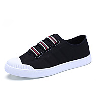 cheap Plus Size Shoes-Men's Shoes Tulle Canvas Spring Fall Comfort Sneakers Walking Shoes Hook & Loop for Athletic Casual Outdoor White Black Red Blue