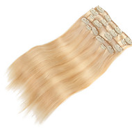 "9Pcs/Set Deluxe 120g P27/613 Mixed Blonde Balayage Hair Clip In Hair Extensions 16"" 20"" 100% Human Hair"