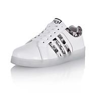Unisex Tenisky Svítící boty Kotníčkové Koženka Jaro Podzim Zima Sportovní Ležérní Chůze Šněrování Creepers Bílá 2.5 - 4.5 cm
