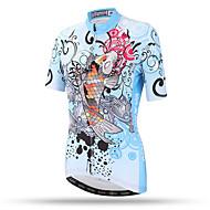 XINTOWN Žene Kratkih rukava Biciklistička majica - LightBlue Veći konfekcijski brojevi Bicikl Majice Prozračnost Quick dry Povratak džep Sportski Terilen Brdski biciklizam biciklom na cesti Odjeća