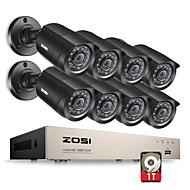 cheap DVR Kits-ZOSI® 8CH 1080N HD-TVI DVR Surveillance Camera Kit 8x 1280TVL 720P IR Weatherproof Cameras 1TB HDD