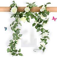 """78 """"L sarja 16 kukkia ruusu rottinki silkki kangas kukkia"""