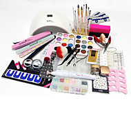 Χαμηλού Κόστους Νυχιών-77pcs Εργαλείο νυχιών Κιτ Nail Art & Αξεσουάρ Σχεδίαση Νυχιών