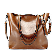 Women Bags All Seasons PU Shoulder Bag for Wedding Event/Party Casual Sports Formal Office & Career Outdoor Black Wine Brown Dark Red