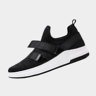baratos Sapatos Masculinos-Homens Couro Ecológico Primavera / Outono Conforto Tênis Caminhada Preto / Vermelho / Branco / Preto
