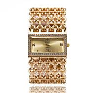 billige Quartz-Dame Armbåndsur Imiteret Diamant / Sej Rustfrit stål Bånd Glitrende / Afslappet / Elegant Sølv / Guld