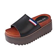 Ženske Sandale Udobne cipele PU Proljeće Ljeto Kauzalni Formalne prilike Udobne cipele Platforma Obala Crn Ravne