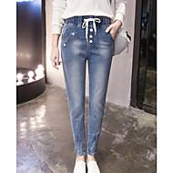 jeans til kvinder var tynd haremsbukser løse bukser sammenbrud bukser elastiske talje bukser fødder kvindelige mode nye bølge tegn