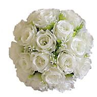 1 Ramo Poliéster Rosas Flor de Mesa Flores artificiais 30*30*35