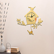 Modern / Contemporary Przypadkowy Biuro / Biznes Święto Muzyka Rodzina Zegar ścienny,Nowość Akrylowy 43*40 Indoor / Outdoor Domowy Zegar