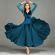 Χαμηλού Κόστους -Επίσημος Χορός Γυναικεία Επίδοση Σιφόν / Βελούδο Βολάν Μακρυμάνικο Φόρεμα