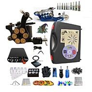 billige Tatoveringssett for nybegynnere-BaseKey Tattoo Machine Startkit, 2 pcs tattoo maskiner med 10 x 5 ml tatovering blekk - 1 x roterende tatoveringsmaskin til lining og