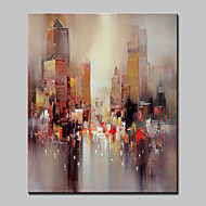 Maalattu Abstrakti Abstraktit maisemakuvat Pystysuora,Moderni European Style 1 paneeli Kanvas Hang-Painted öljymaalaus For Kodinsisustus
