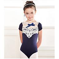 cheap Dancewear & Dance Shoes-Ballet Leotards Children's Training Cotton Lace 1 Piece Short Sleeve Dropped Leotard