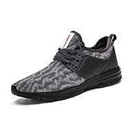 Erkek Ayakkabı Tül Yaz Sonbahar Hafif Tabanlar Spor Ayakkabısı Koşu Uyumluluk Atletik Siyah Gri