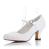 Χαμηλού Κόστους -Γυναικεία Παπούτσια Τούλι Άνοιξη / Καλοκαίρι Ανατομικό Τακούνια Κοντόχοντρο Τακούνι Στρογγυλή Μύτη Κρύσταλλο / Γάμου / Πάρτι & Βραδινή Έξοδος