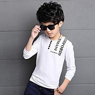 Dječaci Pamuk Umjetna svila Dnevno Proljeće Ljeto Dugih rukava Majica s kratkim rukavima Obala Crn Lila-roza
