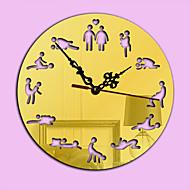 Moderno/Contemporâneo Férias Família Relógio de parede,Inovador Acrilico Interior/Exterior Interior Relógio