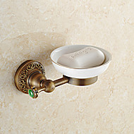 cheap Antique Brass Series-Soap Dish Contemporary Brass Wall Mounted
