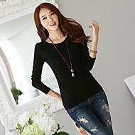 ny koreansk vild slank bunder solid sort uld sweater tynd sweater T-shirt
