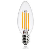 1本4w e14エジソンは、フィラメント電球c35コブ360lm暖かく/涼しい白い色ac220-240vを導いた