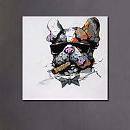 מצויר ביד מופשט בעלי חיים מאוזן,מודרני סגנון ארופאי פנל אחד ציור שמן צבוע-Hang For קישוט הבית