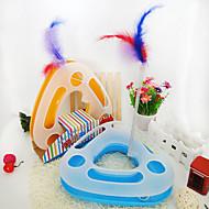 Hračka pro kočky Hračky pro zvířata Interaktivní Hlavolamy Péřová hračka trubky & tunely Myš hračka kvičet Škrabadlo Aport Halloween