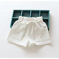 Pige Shorts Afslappet/Hverdag Ensfarvet-Bomuld Sommer