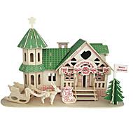 ウッドパズル おもちゃ 有名建造物 中国建造物 家 プロフェッショナルレベル 1 小品