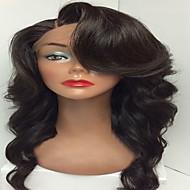baratos -venda quente perucas frente glueless rendas virgens humanos cabelo peruca com onda do corpo cabelo do bebê cor preta natural para atacado