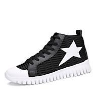 アウトドア カジュアル アスレチック-PUレザー-フラットヒール-メリージェーン カップルの靴-アスレチック・シューズ-ブラック ホワイト