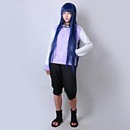 Inspireret af Naruto Hinata Hyuga Anime Cosplay Kostumer Cosplay Kostumer Ensfarvet Langærmet Frakke Shorts Til Mand Kvindelig