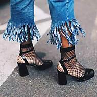 Damesokker fiskegarn sokker hul mesh sokker fisk mesh korte strømper