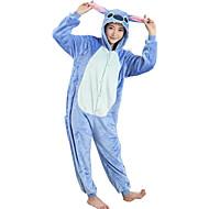 ieftine -Pijama Kigurumi Desene Animate Blue Monster Pijama Întreagă Costume Flanel Lână Albastru Cosplay Pentru Adulți Sleepwear Pentru Animale