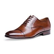 baratos Sapatos Masculinos-Homens Bullock Tênis Pele Primavera / Verão / Outono Oxfords Caminhada Preto / Marron / Festas & Noite