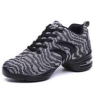 baratos Sapatilhas de Dança-Mulheres Sapatos de Dança Latina / Sapatos de Jazz / Tênis de Dança Tecido Têni Franzido Salto Robusto Não Personalizável Sapatos de Dança