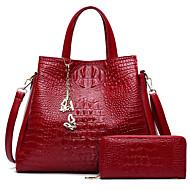 cheap Bag Sets-Women's Bags PU(Polyurethane) Bag Set 2 Pieces Purse Set Solid Colored White / Black / Red