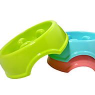 ネコ 犬 餌入れ/水入れ フィーダ ペット用 ボウル&摂食 携帯用 レッド グリーン ブルー