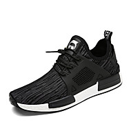 Men's Sneakers Spring Summer Fall Comfort Couple Shoes Light Soles Fabric Outdoor Casual Flat Heel Walking Shoes Black Grey