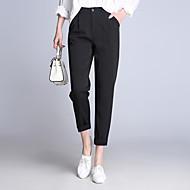 Dámské Klasické & nadčasové Neelastické Kalhoty Kalhoty Středně vysoký pas Neuvedeno Pevná barva Podzim