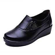 Damă Pantofi PU Primăvară Confortabili Mocasini & Balerini Pentru Casual Negru Galben Rosu