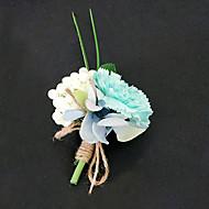 billiga Brudbuketter-Brudbuketter Bukett Boutonnieres Andra Konstgjorda blommor Bröllop Fest / afton Material Spets Satin 0-20cm
