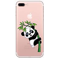 billiga Mobil cases & Skärmskydd-fodral Till Apple iPhone 7 / iPhone 7 Plus Genomskinlig / Mönster Skal Tecknat / Panda Mjukt TPU för iPhone 7 Plus / iPhone 7 / iPhone 6s Plus