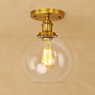 billige Taklamper-Anheng Lys Omgivelseslys - Mini Stil designere, Vintage Globus Land, 110-120V 220-240V Pære Inkludert